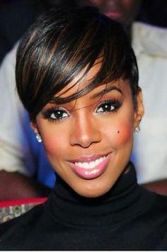 Short pixie hairstyles for black women