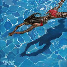 """Rouge"" Antoine Renault 2013 Acrylic on canvas 100x100cm http://antoinerenault.com"