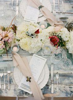 decorar mesas al estilo Shabby chic