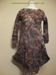 eco-print felted dress