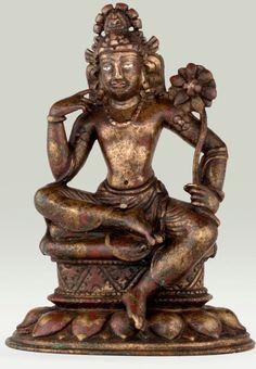 Swat Valley, c. sitting Avalokiteshvara century, Swat Valley, brass with silver and copper inlay, at the Alain Bordier Foundation. Sculptures, Lion Sculpture, Tibetan Art, Buddhist Art, Swat, Indian Art, Buddhism, Bronze, Buddha Statues