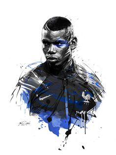 Two illustrations of Paul Pogba,superstar of french soccer team for ESPN Magazine. Art Football, Football 2018, Soccer Art, Football Match, Soccer Teams, Paul Pogba, Pogba Wallpapers, Manchester United, Ronaldo