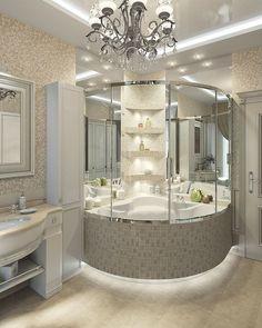 Dream Home Design, Modern House Design, Home Interior Design, Best Bathroom Designs, Bathroom Design Luxury, Dream Bathrooms, Beautiful Bathrooms, Luxury Homes Dream Houses, Luxurious Bedrooms