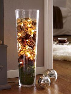 Lichterkette dekorieren - 6 weihnachtliche Ideen