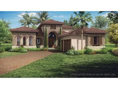 Home Plan HOMEPW77015 is a gorgeous 3648 sq ft, 2 story, 3 bedroom, 3 bathroom plan influenced by + Mediterranean Modern Homes style architecture.