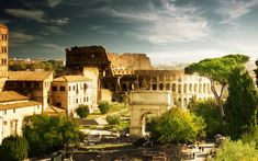 One of the best photos of The Colosseum in Rome, Italy. #Travel