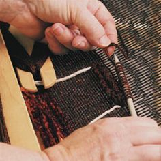 Free weaving patterns from Weaving Today: Rigid-Heddle Loom patterns & huck lace & collapse weave projects
