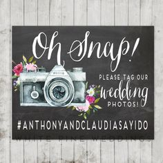PRINTABLE Wedding Instagram Sign | wedding diy decor idea