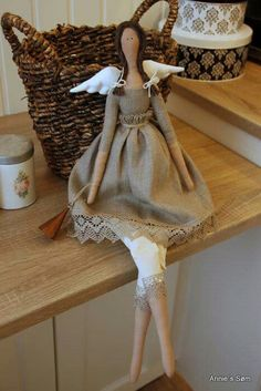 Diy Toys Doll, Handmade Angels, Fairy Dolls, Soft Dolls, Soft Sculpture, Vintage Dolls, Beautiful Dolls, Creations, Barbie