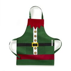 Shop apron from Williams Sonoma. Our expertly crafted collections offer a wide of range of cooking tools and kitchen appliances, including a variety of apron. Christmas Aprons, Christmas Sewing, Christmas Elf, Christmas Ideas, Christmas Quilting, Christmas Decor, Shop Apron, Childrens Aprons, Elf Costume
