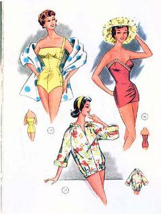 Lutterloh Swimsuit patterns 1959