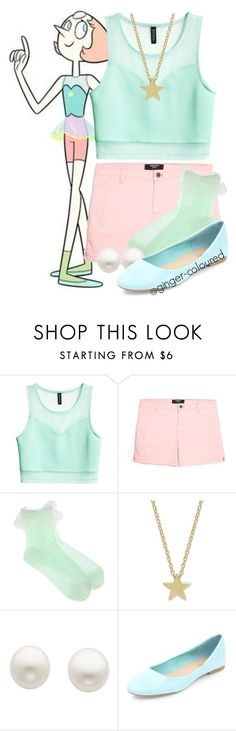 """""""Pearl from Steven Universe"""" by ginger-coloured ❤ liked on Polyvore featuring H&M, MANGO and Reeds Jewelers"""