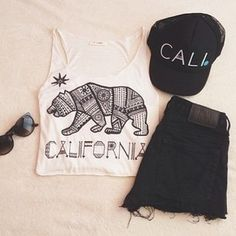 cali Clothes Casual Outift for • teens • movies • girls • women •. summer • fall • spring • winter • outfit ideas • dates • school • parties Polyvore :) Catalina Christiano