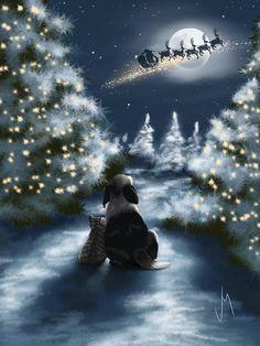 We Are So Good by Veronica Minozzi – Winterbilder Noel Christmas, Christmas Animals, Vintage Christmas Cards, Christmas Night, Winter Christmas Scenes, Merry Christmas Everyone, Magical Christmas, Couple Christmas, Good Morning Christmas