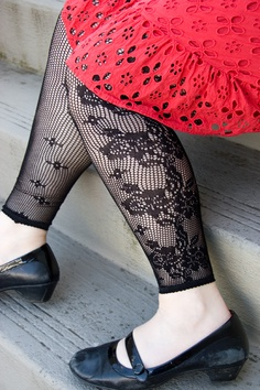 More summer fun - Floral Net Footless Tights! UPDATE: we regret to inform you that this style has been discontinued and is no longer available.