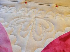 hearts and scallops - machine quilting line designs