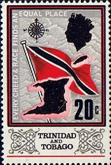 Trinidad and Tobago 1969 SG 347 Flag and Outline Fine Mint Scott 152 Other Trinidad Stamps HERE