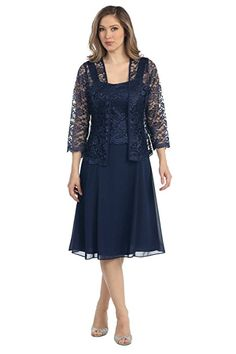 The Dress Outlet Short Mother of the Bride Church Dress with Jacket