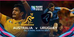 #RWC2015 #AUS vs #URU #StrongerAsOne vs #VamosTeros