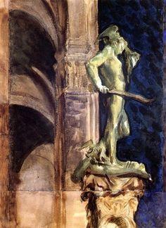 John Singer Sargent (1856-1925), Persée de nuit (Florence).