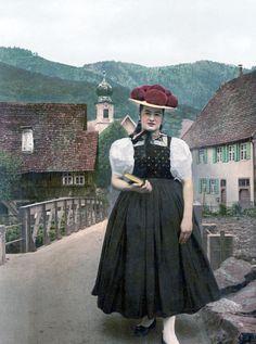 Tracht aus Gutach, Wolfach-Kirnbach und Hornberg-Reichenbach im Südschwarzwald um 1900 #Gutachtal