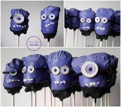 Evil Minion Cake Pops #despicableme2 #minions #purple