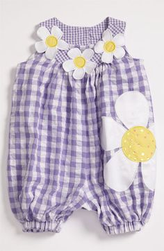 Bonnie Baby Gingham Coveralls (Infant)