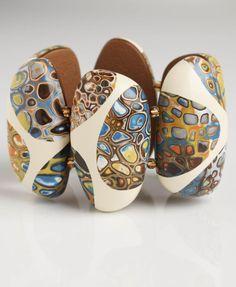 Polymer Clay bracelet; FIMO bracelet;  Melanie Muir Portfolios