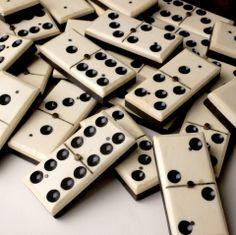 Ebony and Ivory Dominoes at 1stdibs