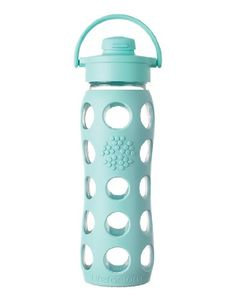 Life Factory Flip-Top glass water bottle (turquoise) ...WANT!