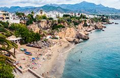 Nerja has become our new favourite place in Spain. Although staying at Torre Del Mar, we have found ourselves going back to Nerja again and again after. Seaside Towns, Seaside Resort, Places In Spain, Places To Visit, Malaga, Nerja Spain, Andalusia Spain, Madrid City, Spanish Towns