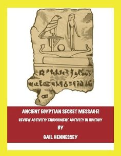 Ancient Egyptian Secret Message!(Review Activity/Enrichment)