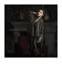 Lea - 100% Cashmere - Boxy Front Drape Cardigan. Available in multiple colors.