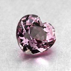 6x5mm Pink Heart Sapphire, top view