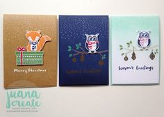 Juana Ambida Independent Stampin' Up!® Demonstrator Australia: Cozy Critters and Forever Evergreen - Season's Greetings