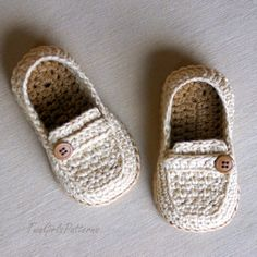 Crochet Pattern Toddler Sizes Loafers Super by TwoGirlsPatterns