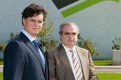 De izquierda a derecha, Alberto Quintanilla y Juan Ignacio Bustinza, director de Operaciones y director general de TecnoAranda, respectivamente.