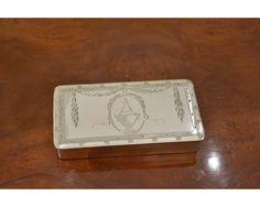 tabaksdoos, zilver, 20e (nr. LP 218)