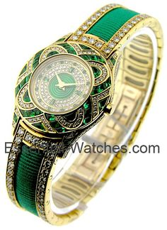 Mauboussin Incredible Emerald and Diamond  Watch