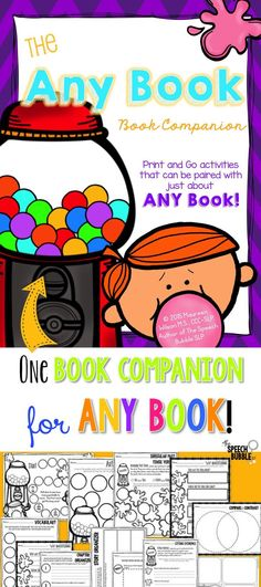 Just found a great story to use with your kids but there isn't a book companion for it? Maybe you found a great companion, but you don't have time to prep all the parts? This NO PREP book companion comes with everything you need start using just about ANY