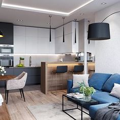 Importance Of Open Concept Kitchen Living Room Small House Interior Design 51 - sitihome Small Apartment Interior, Small House Interior Design, Small Room Design, Kitchen Room Design, Small Apartment Design, Living Room Kitchen, Home Decor Kitchen, Interior Design Kitchen, Apartment Kitchen