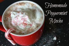 Homemade Peppermint Mocha - Domestic Charm