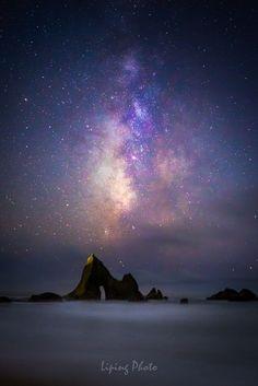 Martins Dream by Liping Yu on 500px.... #california #longexposure #milkyway #halfmoonbay