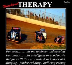 dirt racing- It truly is my therapy- I forget about everything else in the world and just let myself get lost in the dirt :) Racing Baby, Sprint Car Racing, Dirt Track Racing, Race Quotes, Funny Quotes, My Champion, Vintage Race Car, Race Day, Nascar