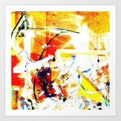 Debris Field (Little Leaves) Art Print by DANNY JOE GIBSON - $14.56