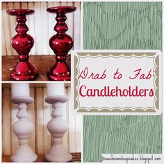 Drab to Fab Candle Holder Makeover  l  Couches and Cupcakes