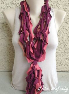 Bella Infinity Floral Wave Scarf UpCycled by BellaInfinityScarves, $28.00