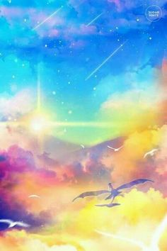 Well.. bird and colorful sky, yo?
