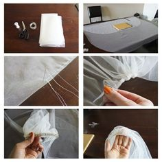 DIY Fingertip Veil with Blusher with Step By Step info! | Weddingbee Do It Yourself
