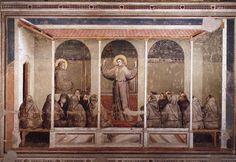 Giotto di Bondone   Apparition at Arles  1325  Fresco, Tempura  Bardi Chapel, Santa Croce  Florence, Itlay